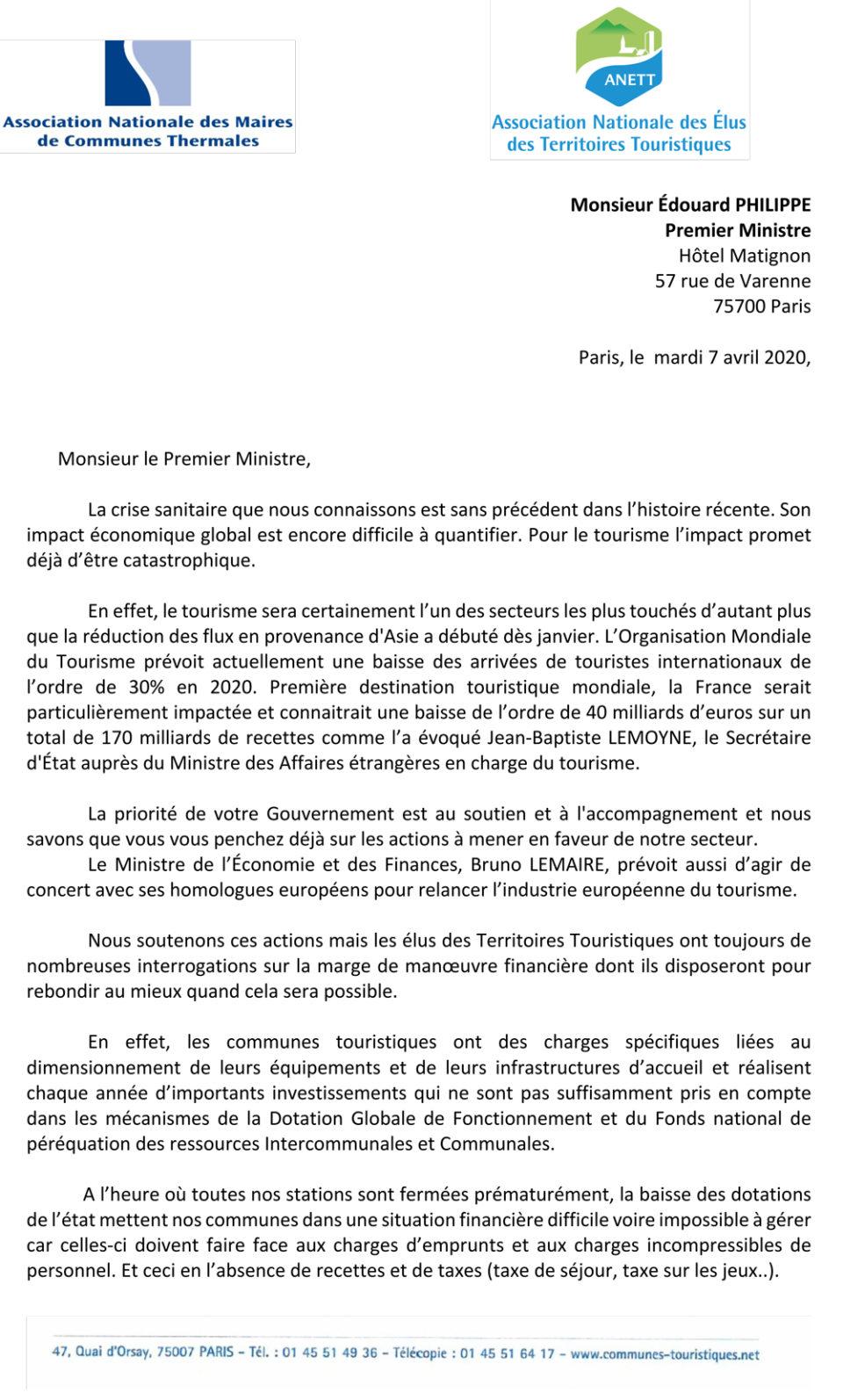 Le cri d'alarme de l'ANETT et de l'ANMCT adressé à Edouard Philippe