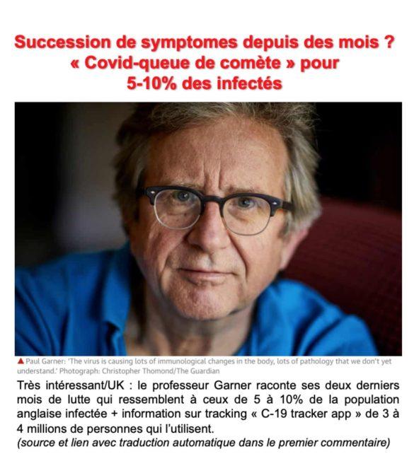Le calvaire du Pr. Paul Gardner, infectiologue anglais qui raconte deux mois de symptômes successifs